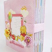 Канцелярские товары ручной работы. Ярмарка Мастеров - ручная работа Альбом для девочки на первый годик. Handmade.