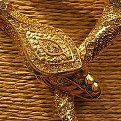 """Винтаж ручной работы. Ярмарка Мастеров - ручная работа Винтажное колье """"Голова змеи"""" Чехословакия. Handmade."""