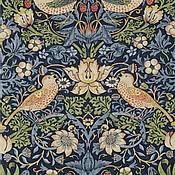 Материалы для творчества ручной работы. Ярмарка Мастеров - ручная работа Английская ткань William Morris Strawberry Thief. Handmade.