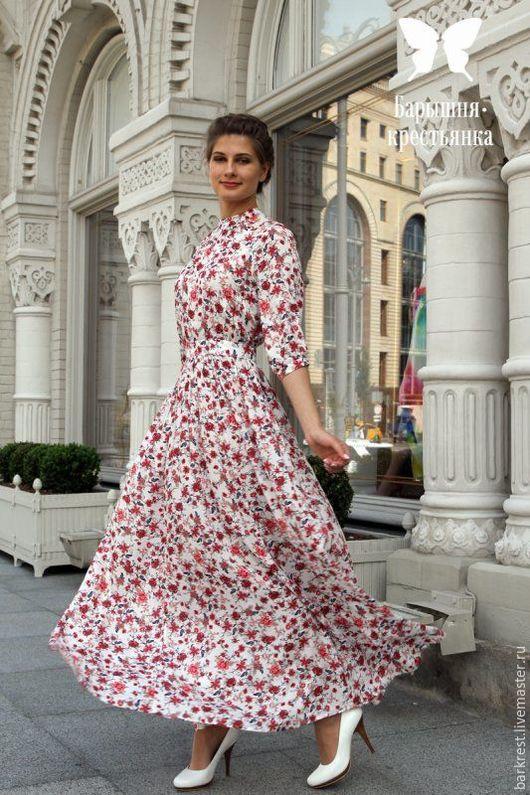 Платья ручной работы. Ярмарка Мастеров - ручная работа. Купить Вальсы Шуберта. Handmade. Цветочный, платье в пол, платье для церкви
