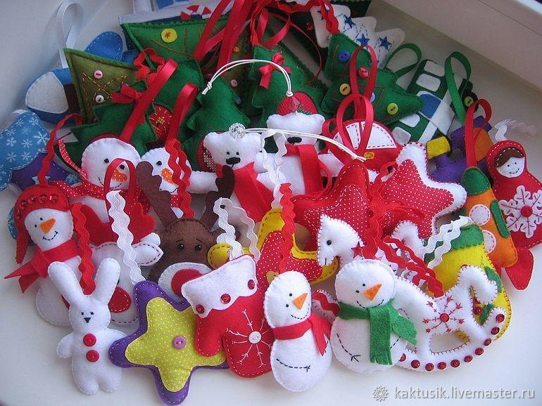 Елочные игрушки из фетра, Елочные игрушки, Саратов,  Фото №1