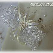 """Свадебный салон ручной работы. Ярмарка Мастеров - ручная работа Свадебная подвязка """"Версаль"""". Handmade."""