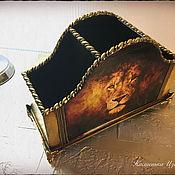 """Канцелярские товары ручной работы. Ярмарка Мастеров - ручная работа Подставка """"Lion"""". Подставка декупаж. Handmade."""