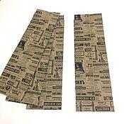 Пакеты ручной работы. Ярмарка Мастеров - ручная работа Крафт-пакет  9х4х30 см с рисунком Газета. Handmade.
