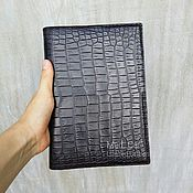 Канцелярские товары handmade. Livemaster - original item Cover for notebook made from genuine leather alligator. Handmade.