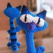 Куклы и игрушки ручной работы. Ярмарка Мастеров - ручная работа Вязаный кот с мышкой. Handmade.