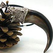 Сувениры и подарки handmade. Livemaster - original item Pendant amulet bear claw length 9-10 cm 925 silver. Handmade.