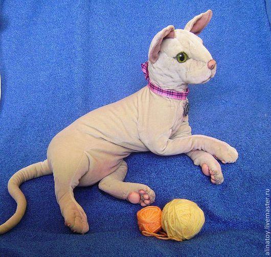 Куклы и игрушки ручной работы. Ярмарка Мастеров - ручная работа. Купить кошка сфинкс, Леди Муриэль, реалистичная игрушка. Handmade.