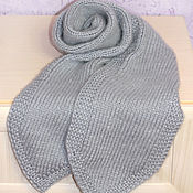 Аксессуары handmade. Livemaster - original item Warm scarf knitted women scarf winter fluffy grey. Handmade.