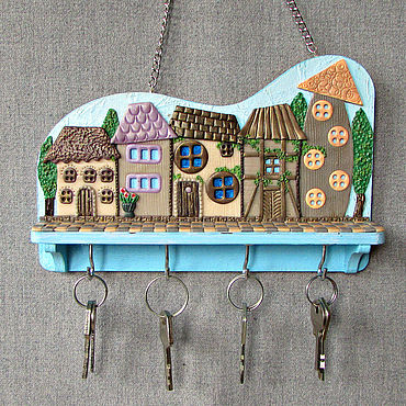 For home and interior handmade. Livemaster - original item Housekeeper: The Housekeeper Lilac City. The housekeeper wall.. Handmade.