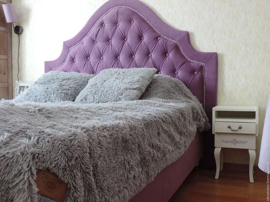 Мебель ручной работы. Ярмарка Мастеров - ручная работа. Купить Изголовье кровати из велюра. Handmade. Спинка кровати, изголовье, синтепон