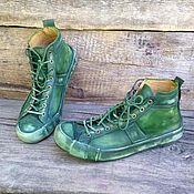 Обувь ручной работы. Ярмарка Мастеров - ручная работа Кеды кожаные Marley. Handmade.