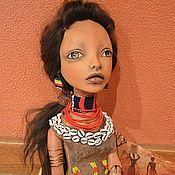 Куклы и игрушки ручной работы. Ярмарка Мастеров - ручная работа Принцесса Африки, девушка из племени Хамер. Handmade.