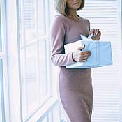Одежда ручной работы. Ярмарка Мастеров - ручная работа Платье цвета пудры. Handmade.