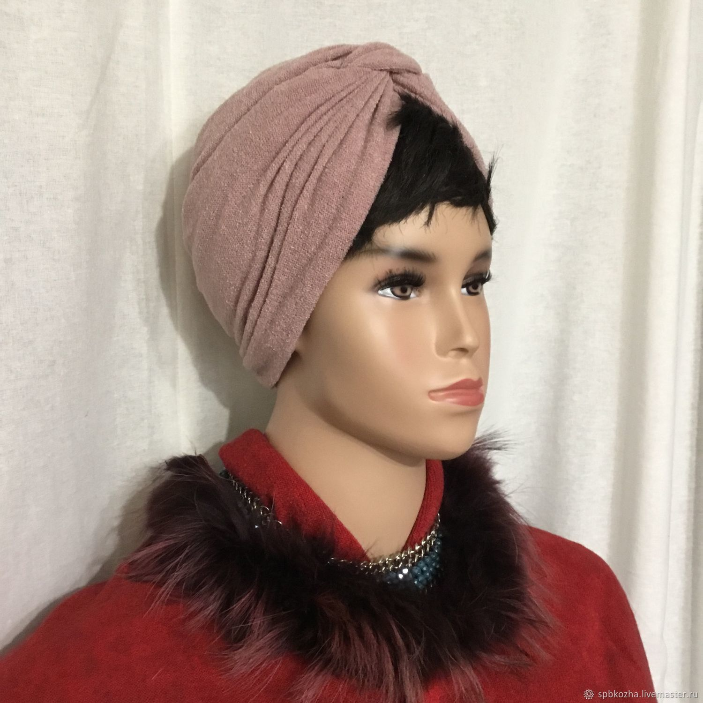 - 40% Чалма - тюрбан - шапка Запылённая Роза, Шапки, Санкт-Петербург,  Фото №1