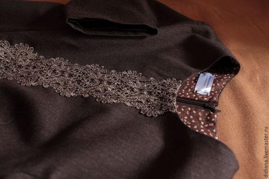 Платья ручной работы. Ярмарка Мастеров - ручная работа. Купить Платье из шерсти Brownstone. Handmade. Коричневый, шерстяное платье