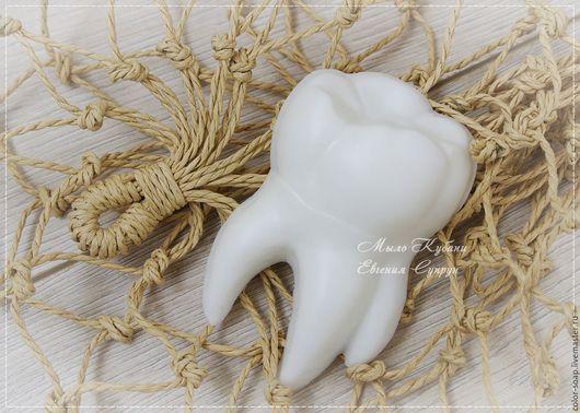 """Мыло ручной работы. Ярмарка Мастеров - ручная работа. Купить Мыло """"Зуб мудрости"""" подарок для стоматолога, коллеге, детям. Handmade."""