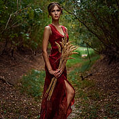 """Одежда ручной работы. Ярмарка Мастеров - ручная работа платье """" в пламени"""". Handmade."""