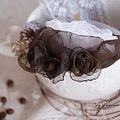 """Украшения ручной работы. Ярмарка Мастеров - ручная работа Брошь-цветок """"Зефир в шоколаде"""". Handmade."""