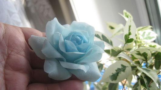 """Заколки ручной работы. Ярмарка Мастеров - ручная работа. Купить Заколка """"Голубая лагуна"""". Handmade. Голубой, заколка для волос"""