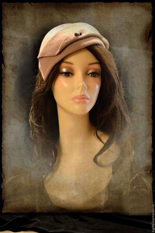 """Шляпы ручной работы. Ярмарка Мастеров - ручная работа. Купить """"Парижанка """"беж. Handmade. Бежевый, маленькая шляпка"""