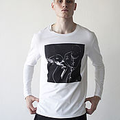 """Футболки ручной работы. Ярмарка Мастеров - ручная работа Мужская футболка с принтом """"сапоги"""". Handmade."""