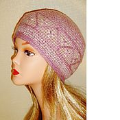 Аксессуары ручной работы. Ярмарка Мастеров - ручная работа Вязаная шапка - берет из хлопка. Handmade.