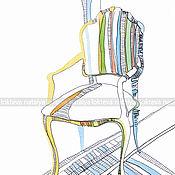 Картины и панно handmade. Livemaster - original item Graphics Mint chair. Handmade.
