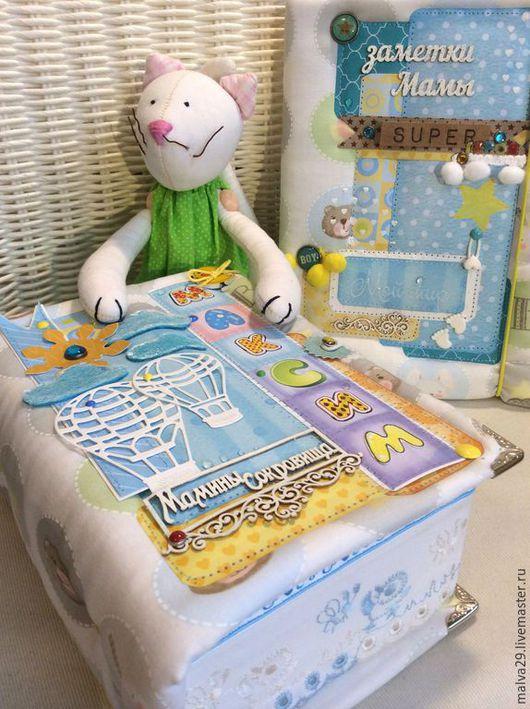 Подарки для новорожденных, ручной работы. Ярмарка Мастеров - ручная работа. Купить Мамины сокровища. Воздушные шары.№2 + блокнот.. Handmade.