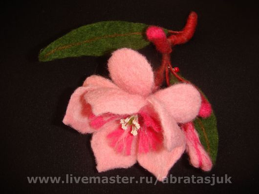Brooches handmade. Livemaster - handmade. Buy Brooches 'Oleander', 'Lilies', 'the cherry Branch'.The author's work
