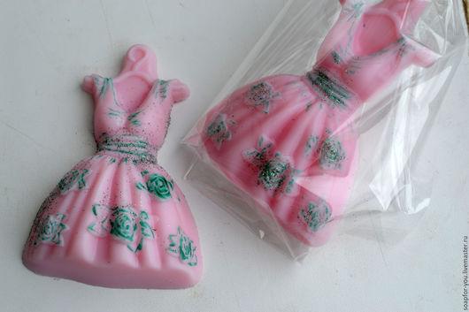 Мыло ручной работы. Ярмарка Мастеров - ручная работа. Купить Мыло для модницы, Платье. Handmade. Кремовый, мыло в подарок, отдушка