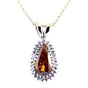 Украшения handmade. Livemaster - original item Pendant: Status pendant with diamonds to buy. Handmade.