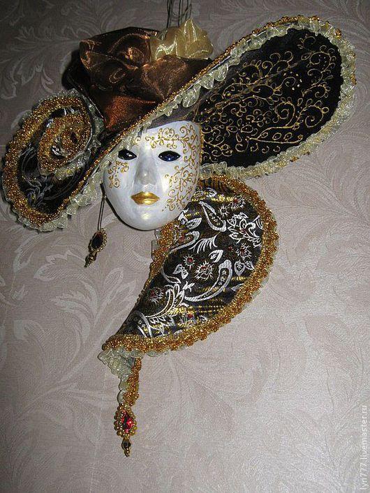 Интерьерные  маски ручной работы. Ярмарка Мастеров - ручная работа. Купить венецианская маска. Handmade. Золотой, маска, венецианская маска