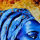 Африканка Голубой бриллиант Холст Масло. Картины. Ольга (mal-levich). Ярмарка Мастеров.  Фото №5
