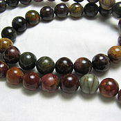 Материалы для творчества handmade. Livemaster - original item Picasso Jasper 8mm smooth bead. Handmade.