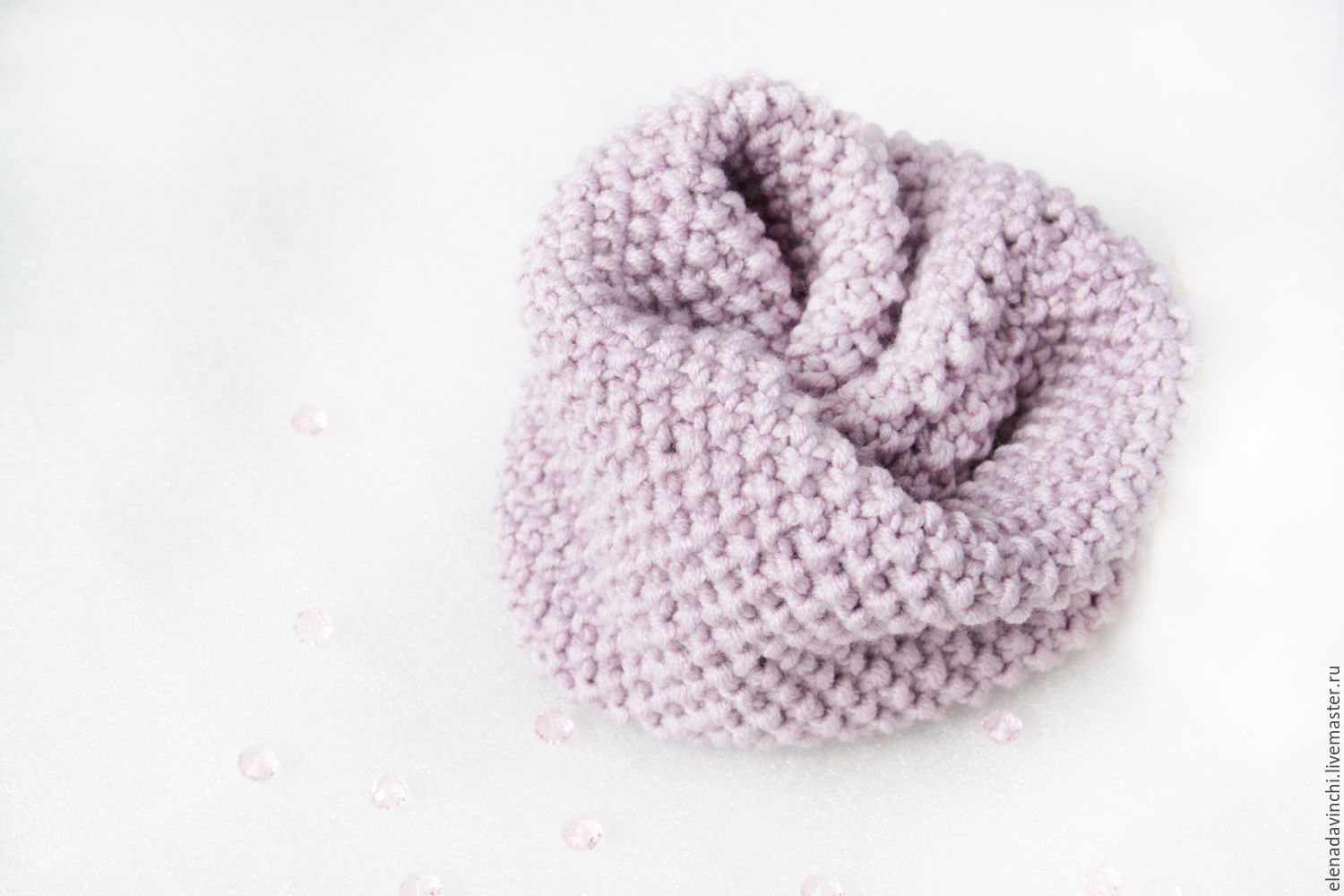 Children's knitted Snood 'Gentle lilac', Snudy1, Moscow,  Фото №1