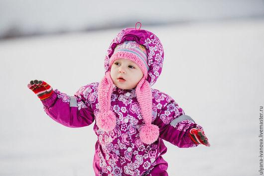 Одежда для девочек, ручной работы. Ярмарка Мастеров - ручная работа. Купить Комбинезон с подстежкой Цветочная поляна (осень/зима). Handmade. Комбинезон