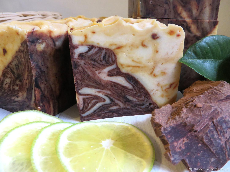 Chocolate. Lime. Cinnamon. Turmeric. ANTICIPATION Luxury natural soap, Soap, Anapa,  Фото №1
