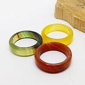 Украшения handmade. Livemaster - original item Set of 3 rings (agate) Bright colors 16.5-17 R-R. Handmade.