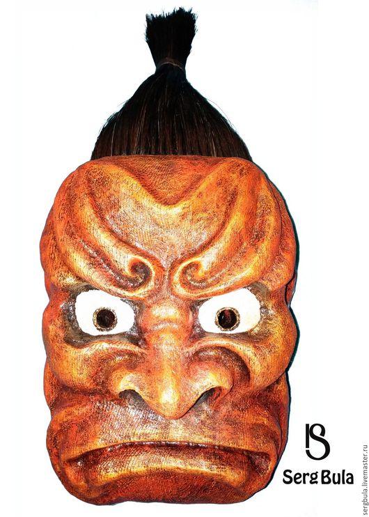 """Интерьерные  маски ручной работы. Ярмарка Мастеров - ручная работа. Купить Маска """"Хмурый Сэнсэй"""". Handmade. Маска ручной работы"""
