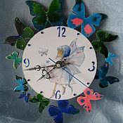 Для дома и интерьера handmade. Livemaster - original item Watch Fairy with butterflies. Handmade.