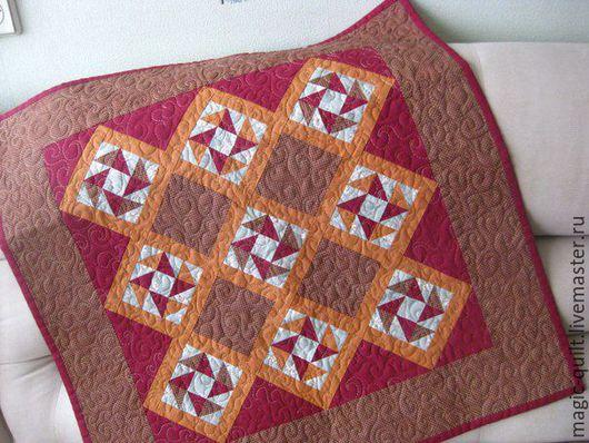 """Текстиль, ковры ручной работы. Ярмарка Мастеров - ручная работа. Купить Салфетка-панно""""Шарлиз"""". Handmade. Комбинированный, коричневый, лоскутное шитье"""