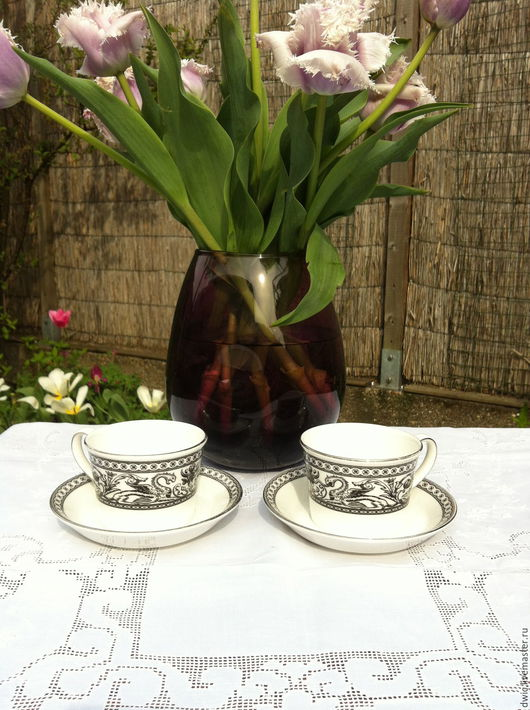 """Винтажная посуда. Ярмарка Мастеров - ручная работа. Купить Чайая пара """"Wedgwood"""" ( Англия). Handmade. Чайная пара"""