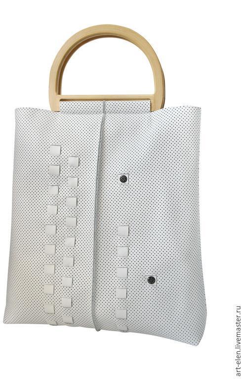Белая сумка, белый цвет, белый