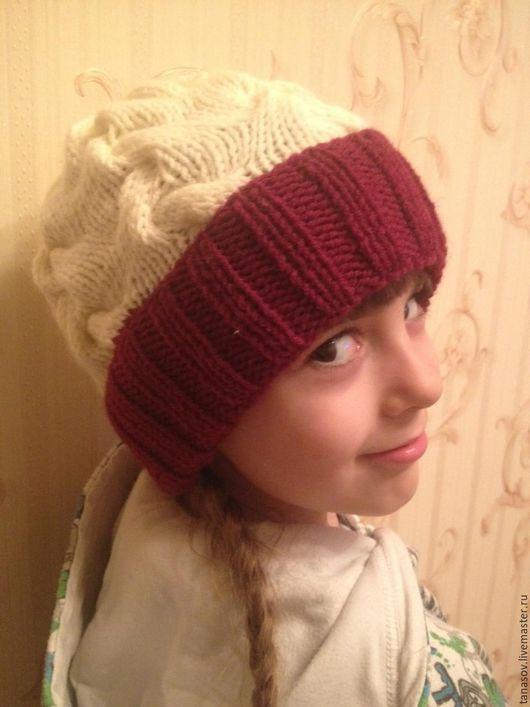 Шапки и шарфы ручной работы. Ярмарка Мастеров - ручная работа. Купить Шапка Шарпей для девочки. Handmade. Бордовый, шапка