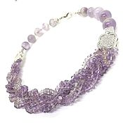 Украшения handmade. Livemaster - original item Lavender brook necklace made of lavender amethyst, beads. Handmade.