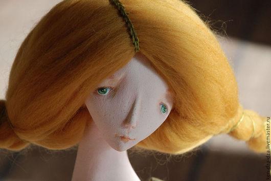 Коллекционные куклы ручной работы. Ярмарка Мастеров - ручная работа. Купить Кулема и коза. Handmade. Оранжевый, коллекционная кукла
