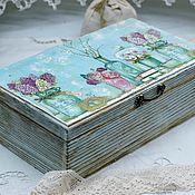 Для дома и интерьера handmade. Livemaster - original item Box Tenderness of Provence retro style. Handmade.