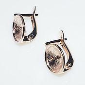 Материалы для творчества handmade. Livemaster - original item Basis for earrings under box 10-10.5 mm - plated rose gold. Handmade.