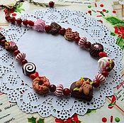 """Бусы ручной работы. Ярмарка Мастеров - ручная работа Бусы для девочки """"Сладкое рождество"""", 2 вида. Handmade."""